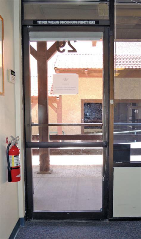 replacing  narrow stile aluminum door lock   exit