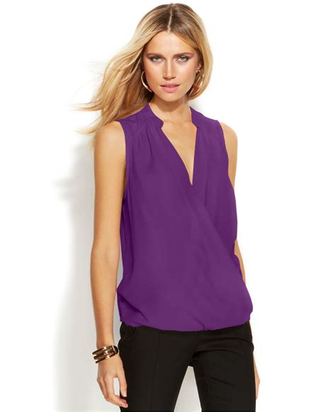 Blouse Best Seller Purple Only lyst inc international concepts only at macy s in purple