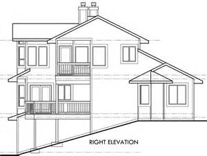 view home sloping lot multi level house plan 3d home