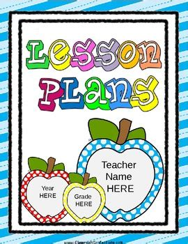 free printable lesson plan cover page free editable lesson plan template by elementary lesson