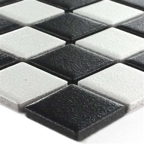 rutschhemmung fliesen keramik mosaik fliesen schachbrett matt tm33259m