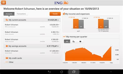 ing bank banking ing smart banking for tablet android apps on play