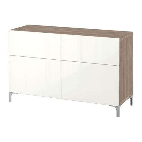 ikea besta storage combination with doors and drawers best 197 storage combination w doors drawers walnut effect