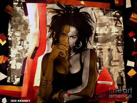 lauryn hill refugee lauryn hill true refugee mixed media by isis kenney