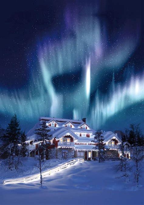 hotel under northern lights hotel kakslauttanen finland resorts pinterest