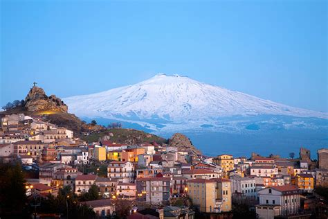 Mediterranean Houses by Etna Volcano Wish Sicily