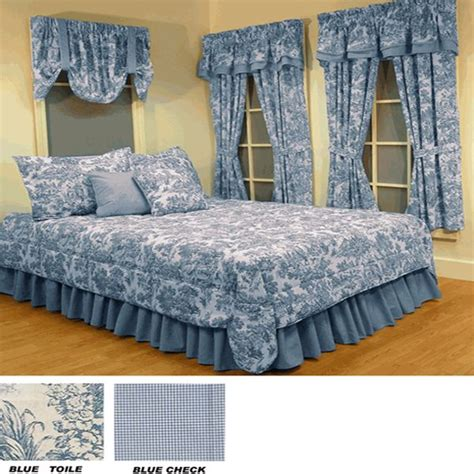 Blue Bedding And Curtain Sets 17 Best Images About Toile On Bed Linens Item Number And Fabrics