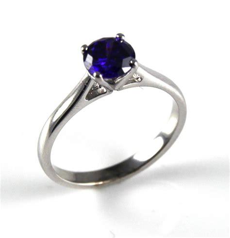 tanzanite unique 1ct solitaire ring solid silver