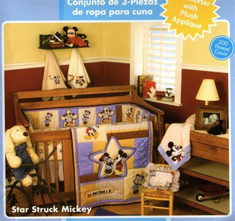 Star Struck Mickey Classic Mickey Minnie Mouse 4 Pcs Crib Classic Mickey Mouse Crib Bedding