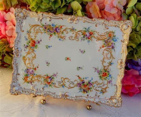 Antique Dresden Richard Klemm Porcelain Tray Hand