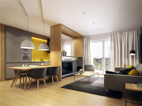 modern scandinavian apartment interior design  gray