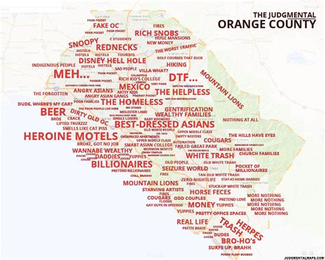 orange county california map with cities quotes judgmental maps orange county ca by michael f copr 2014