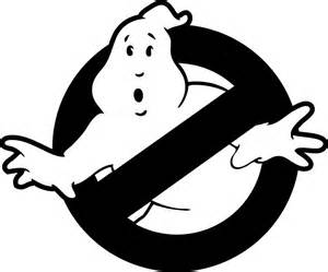quot original ghostbusters logo in black and white quot stickers