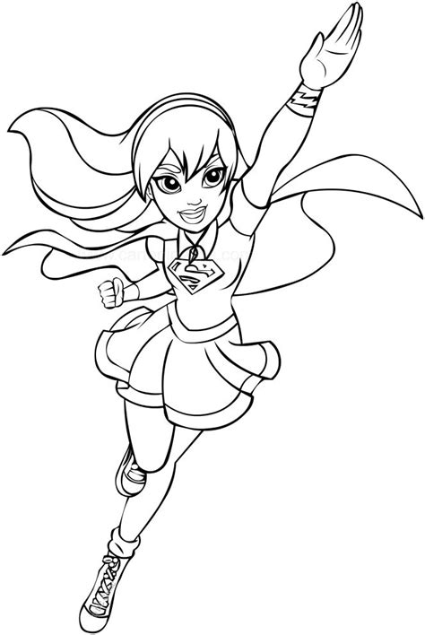 coloring dc supergirl dc coloring page coloring