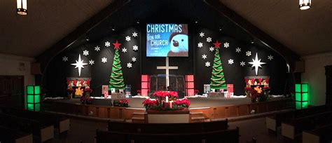 christmas stage decoration foamy church stage design ideas