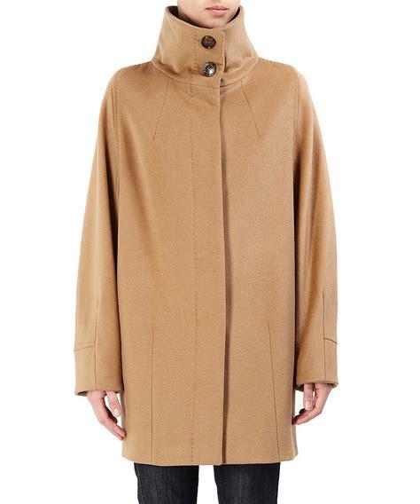 max mara swing coat max mara women s funnel neck swing coat designer jackets