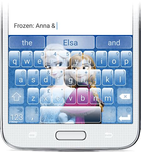 theme line android frozen swiftkey launches branded keyboard themes on android