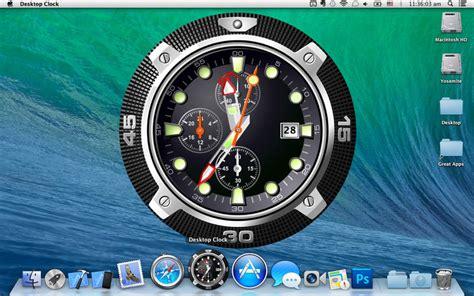wallpaper for mac with clock desktop clock wallpaper clock live dock icon on the mac