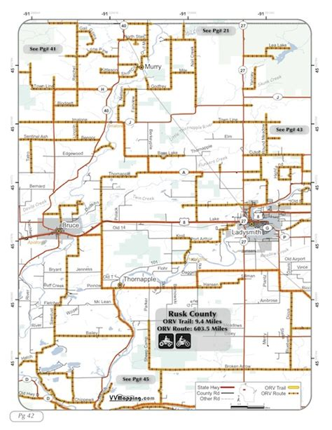 rusk county orv trail information vvmapping