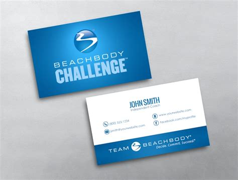 team beachbody business card template beachbody business card images business card template