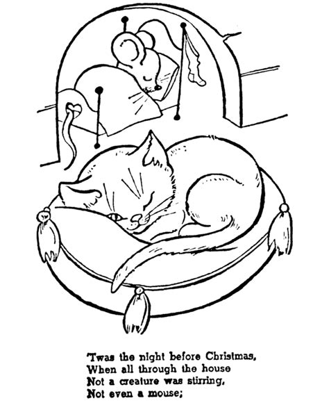 Twas The Before Coloring Pages Twas The Night Before Christmas Coloring Pages Coloring Home by Twas The Before Coloring Pages