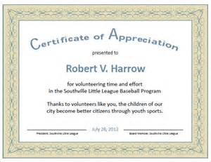 thanks certificate template 9 certificate of appreciation templates free sles