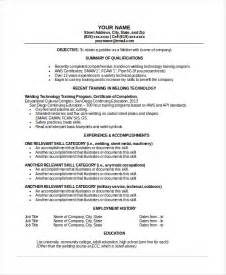 Welders Resume by Welder Resume Template 6 Free Word Pdf Documents Free Premium Templates