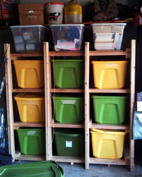 storage tote shelving system