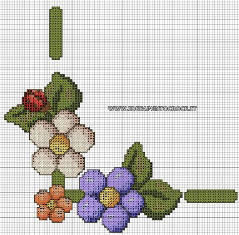 piccoli fiori a punto croce schemi punto croce piccoli cesti di fiori punto
