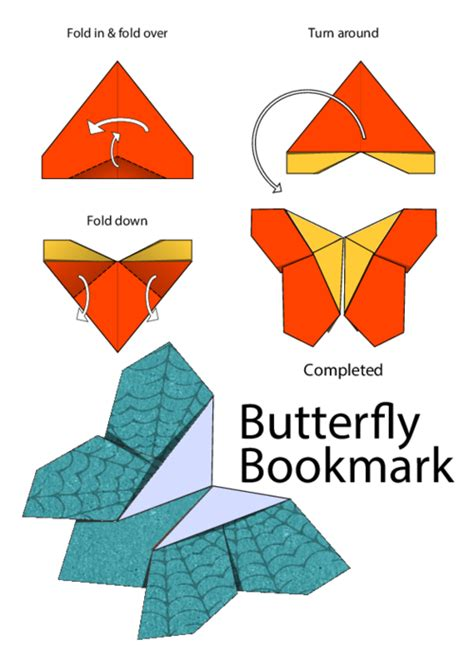 Butterfly Bookmark Origami - butterfly bookmark for kidspressmagazine