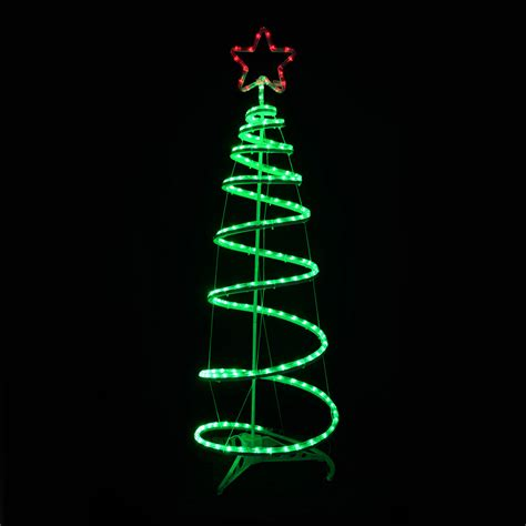 spiral tree led rope light star 120cm indoor outdoor mains