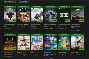 the best black friday xbox 1 game deals microsoft kicks off massive discounts for xbox one games