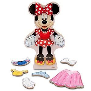 your wdw store disney magnetic dress up set minnie