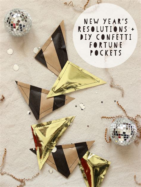new year diy nye resolutions diy new year s confetti fortune