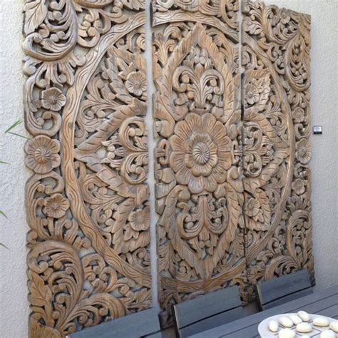 wood carving bed balinese carved wood bed headboard siam sawadee