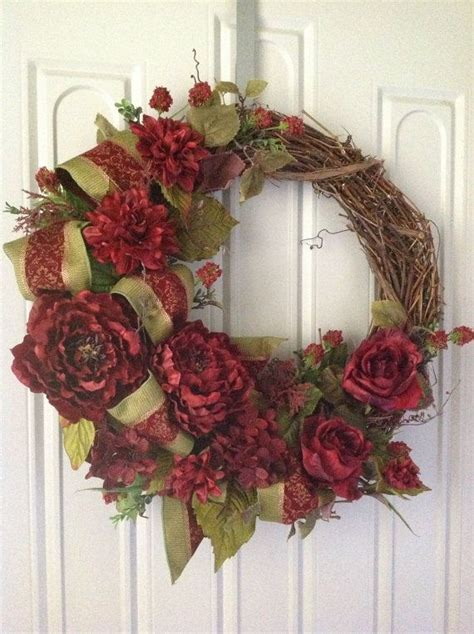 grapevine wreath fall wreath home decor wreath