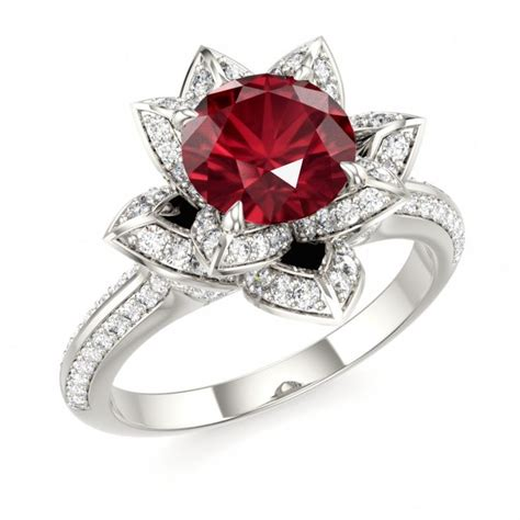 ruby engagement rings ruby lotus ring ruby engagement ring ruby
