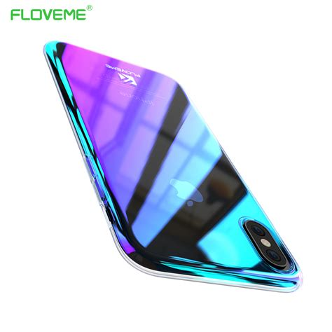 floveme gradient blue light for iphone x iphone