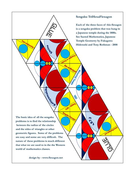 hexaflexagon template printable home flexagon net