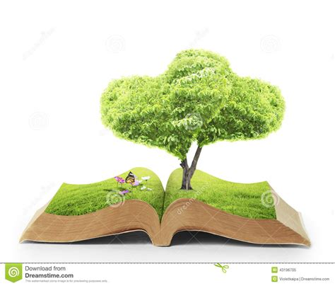 of nature a novel books open book of nature stock photo image 43196705