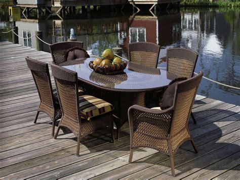 wicker patio dining sets lloyd flanders grand traverse wicker outdoor oval table