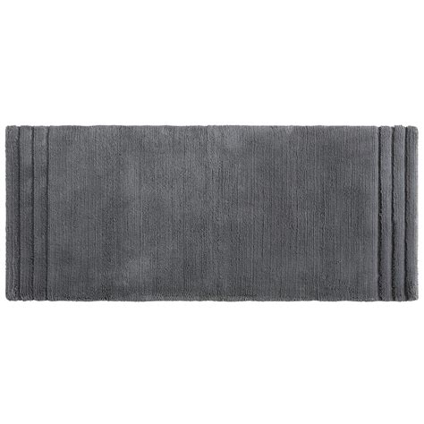 bath rug runner 24 x 60 mohawk empress 24 in x 60 in cotton runner bath rug in pewter 079421 the home depot