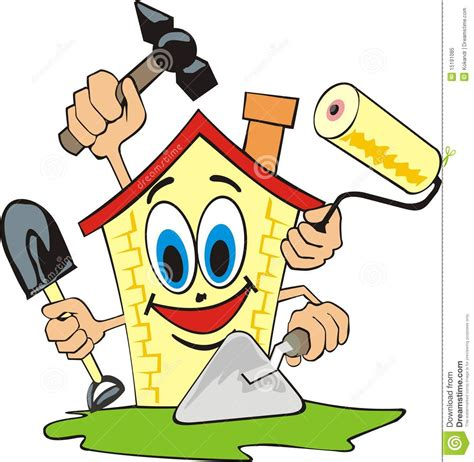 home repair stock vector image of vector shovel remove