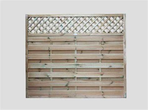 Horizontal Trellis Panels Continental Fence Panels Pennine Horizontal Lattice Top