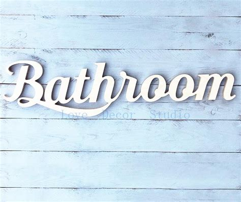 words for the bathroom aliexpress com buy free shipping bathroom wooden sign