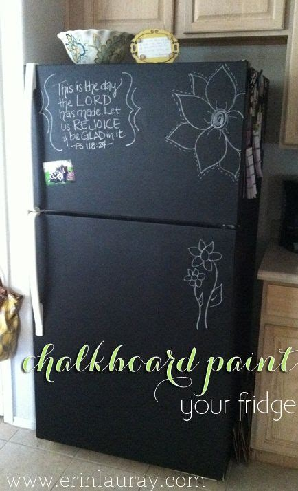chalkboard paint on stainless steel fridge chalk board paint your fridge i want to do this one day