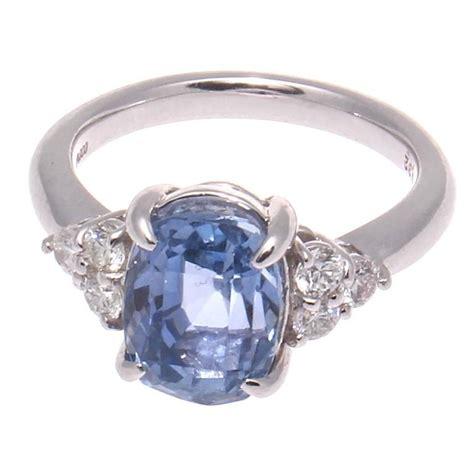 Light Sapphire Ceylon 4 48 carat cert light blue ceylon no heat sapphire
