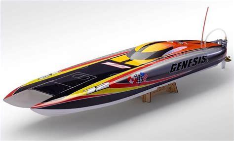 rc fast electric boat racing genesis catamaran racing boat electric brushless rc boat