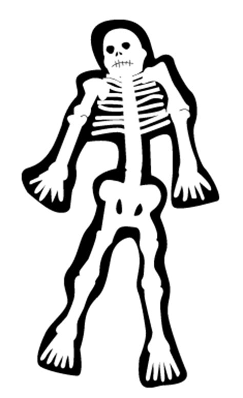 skeleton costume with template