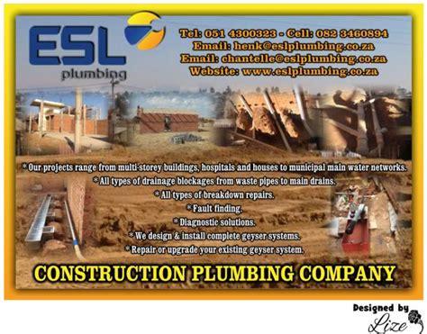 Plumbing Companies In South Africa by Esl Plumbing Bloemfontein Contractors Directory
